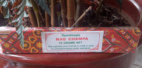 Shanthimalai Red Nag Champa Incense Sticks 15 gram