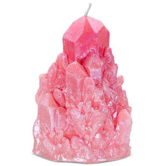 Abundance Rose Quartz Crystal Candle