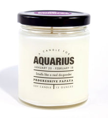 Aquarius Astrology Candle
