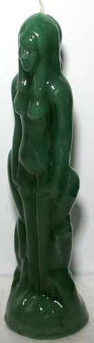 Green Female Figural Candle