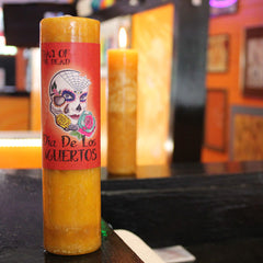 Day of the Dead Halloween Candle