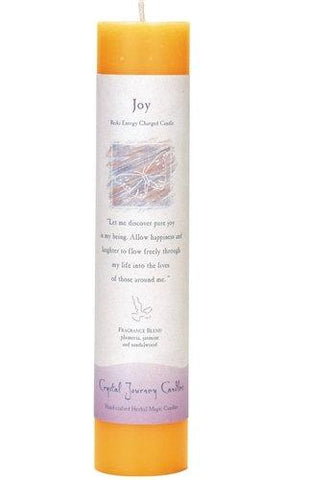 "Joy 1.5"" x 7"" Herbal Magic Pillar"