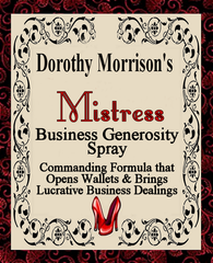 Dorothy Morrison's Special Edition Mistress Spray