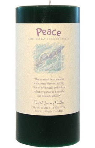 Peace Herbal Magic 3x6 Pillar