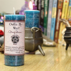 Dorothy Morrison's Wicked Witch Mojo Outta My Way! Candle