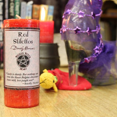 Dorothy Morrison's Wicked Witch Mojo Red Stilettos Candle