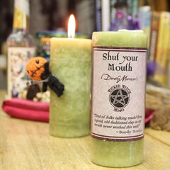 Dorothy Morrison's Wicked Witch Mojo Shut your Mouth Candle