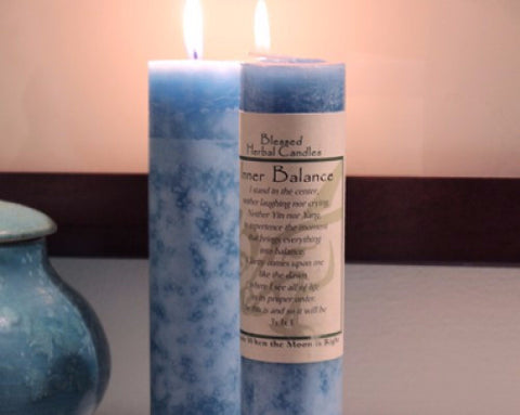 Inner Balance Blessed Herbal Candle