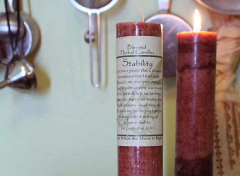 Stability Blessed Herbal Candle