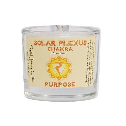 Solar Plexus Chakra Soy Filled Votive Holder