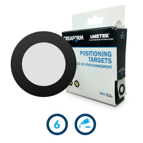 Positioning Targets with Black Contour and Light Adhesive 1 X 500
