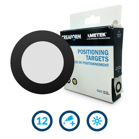 Positioning Targets 12 mm for C-Track, C-Track Elite, MaxSHOT 3D