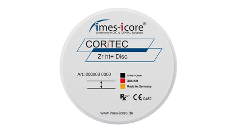 CORiTEC Zr ht+ (Zirconium Dioxide High Translucent) Dental Milling Disc