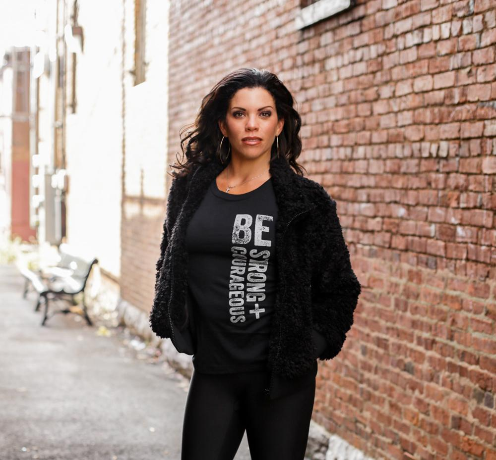 Be Strong + Courageous Ladies Tee - SW Inspire | Inspire Kindness | The Dash Poem