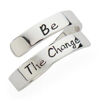 Be the Change Wrap Ring - SW Inspire | Inspire Kindness | The Dash Poem