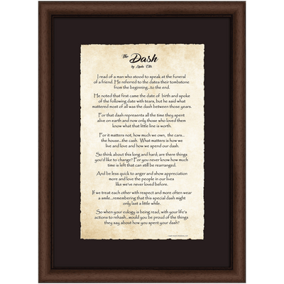 Deluxe Dash Poem Print 18 X 24 Linda ellis the dash poem's powerpoint presentations. usd
