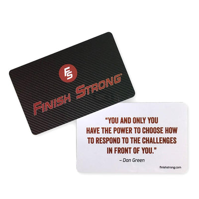 Finish Strong Reminder Cards (Pkg/25) - SW Inspire | Inspire Kindness | The Dash Poem