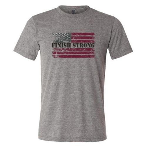 Finish Strong USA Flag T-shirt - SW Inspire | Inspire Kindness | The Dash Poem