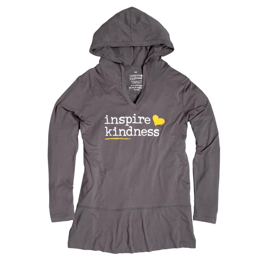 Inspire Kindness Ladies Hoodie Tunic - SW Inspire | Inspire Kindness | The Dash Poem