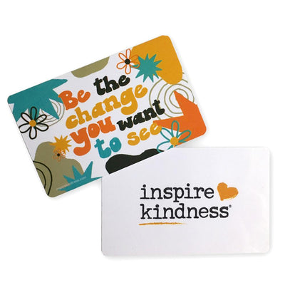 Be the Change Reminder Cards (Pkg/25) - SW Inspire | Inspire Kindness | The Dash Poem