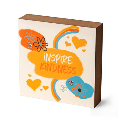 Inspire Kindness Decorative Block - SW Inspire | Inspire Kindness | The Dash Poem
