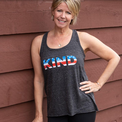 Kind USA Twisted Back Tank - SW Inspire | Inspire Kindness | The Dash Poem
