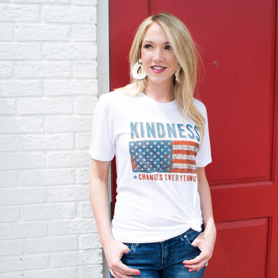 Kindness Changes Everything Flag Unisex Tee - SW Inspire | Inspire Kindness | The Dash Poem