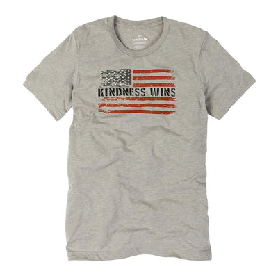 Kindness Wins Flag Unisex Tee - SW Inspire | Inspire Kindness | The Dash Poem