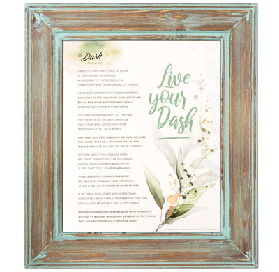 The Dash Poem Framed Print (Contemporary Designs) - SW Inspire | Inspire Kindness | The Dash Poem