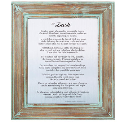 The Dash Poem Framed Print (Classic Designs) - SW Inspire | Inspire Kindness | The Dash Poem