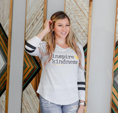 Inspire Kindness Varsity Tee - SW Inspire | Inspire Kindness | The Dash Poem