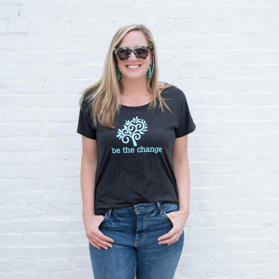 Be the Change Ladies Tee - SW Inspire | Inspire Kindness | The Dash Poem