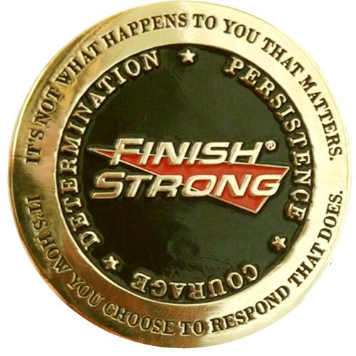 Finish Strong Challenge Coins - SW Inspire | Inspire Kindness | The Dash Poem