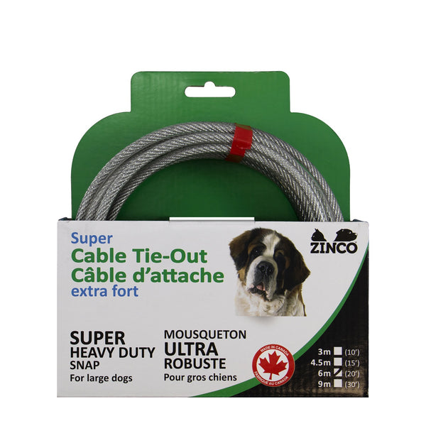 Zinco cable d'attache / Zinco dog cable tie out
