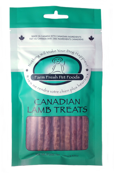 Farm Fresh Lamb Treats in green bag