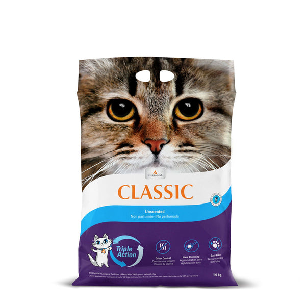 Litière agglomérante premium non-parfumé / Unscented premium clumping cat litter in purple bag