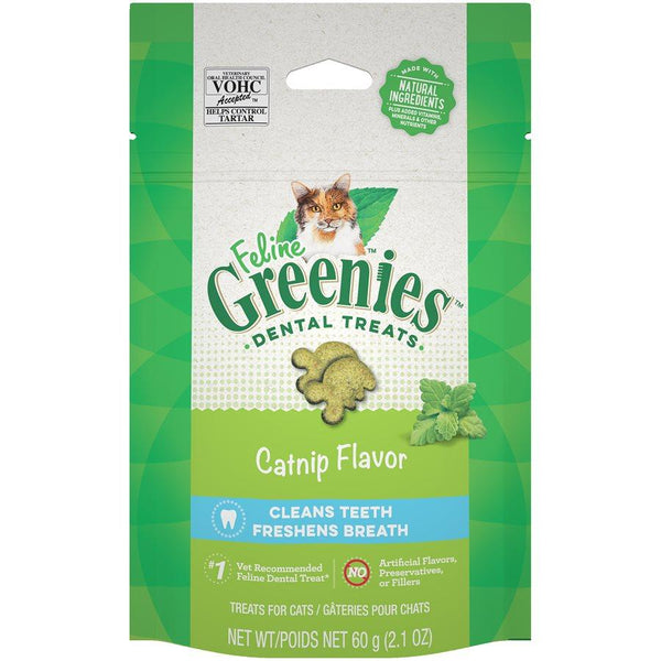 Greenies gâteries pour chat à l'herbe à chat / Greenies catnip cat treats