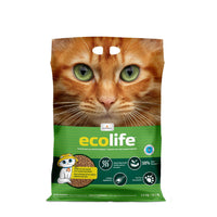 Litière agglomérante écologique / Earth-friendly clumping litter in green bag