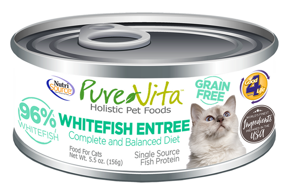 PureVita conserve chat sans grain poisson blanc - PureVita canned grain free white fish