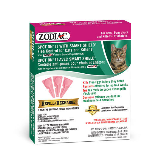 Zodiac gouttes anti puces et tiques chat et chatton / Zodiac Anti flea and tick drops cat and kittens