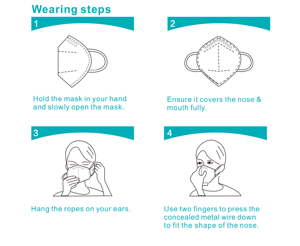 How to wear a KN95 face mask