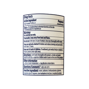 Gel Hand Sanitizer Label