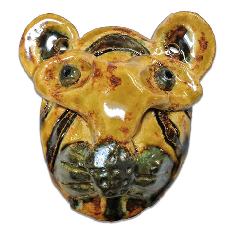 WATCH Resources Art Guild - Sonora, CA - Ceramic Arts Handmade Clay Crafts Safari Animals 3.5-inch x 3.5-inch Glazed by Lisa Uptain