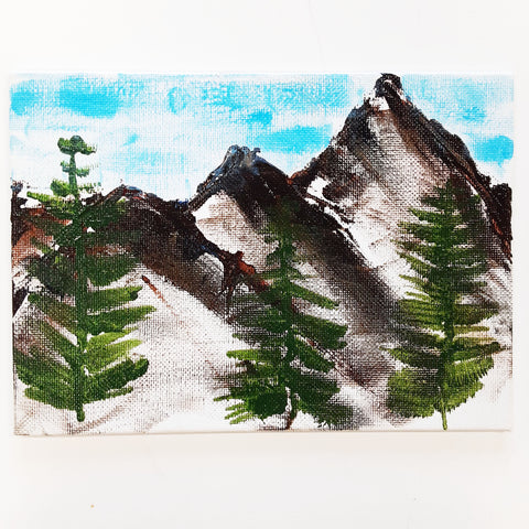 WATCH Resources Art Guild - Sonora, CA - Handmade Acrylic Painting on Canvas, 7 x 5 Original Fine Art, Made by Amanda Ide