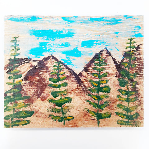 WATCH Resources Art Guild - Sonora, CA - Handmade Acrylic Painting on Wood, 10 x 8 Original Fine Art, Made by Amanda Ide