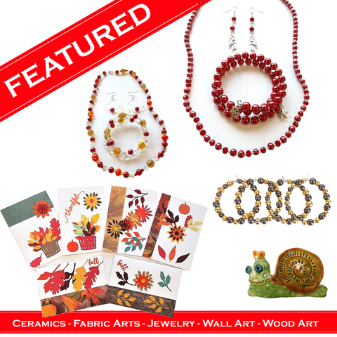 WATCH Resources Art Guild - November 2020 Features Ceramics, Fresh Fish, and Jewelry