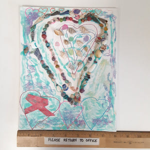 WATCH Resources Art Guild - Handmade Mixed Media on Canvas, 8 x 10 Painting Original Fine Art, Made by Brandi Casner