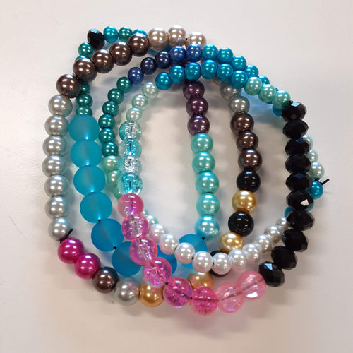 beaded-elastic-stretch-bracelet-jewelry-pack-of-4-bracelets-handmade-with-glass-beads-by-miguel-carrera