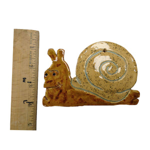 WATCH Resources Art Guild - Ceramic Arts Handmade Clay Crafts Fresh Fish 3.5-inch x 5.5-inch Glazed Sea Snail by Gus Kipper