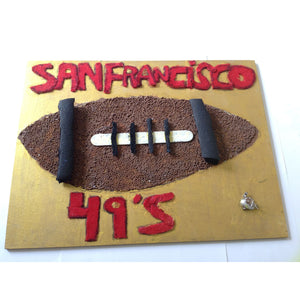 WATCH Resources Art Guild - Handmade Mixed Media, 11 1/4 x 14 1/2 Original Fine Art, 49ers by Zack Kipper